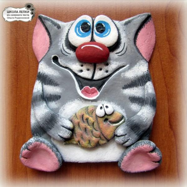 Кошка из соленого теста своими руками фото